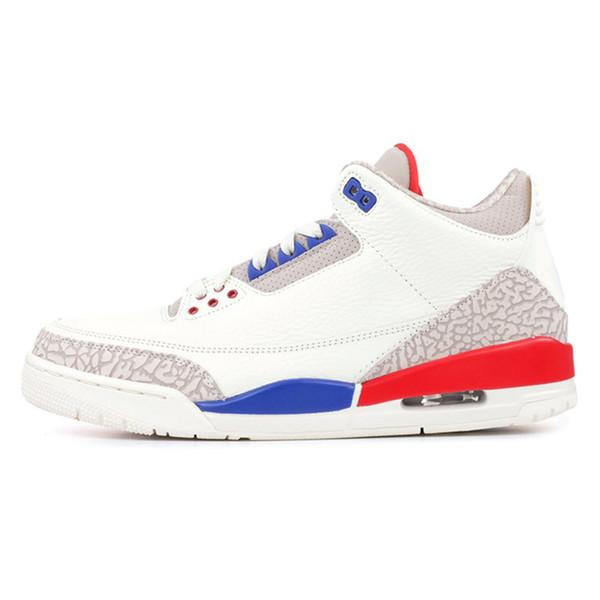 Blanc bleu Varsity rouge