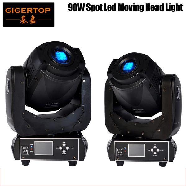 top popular TIPTOP 2XLOT 90W LED Moving Head Spot Stage Lighting 6 16 DMX Channel Hi-Quality Hot Sales 90W Prism Led Moving Light New Digital Display 2021