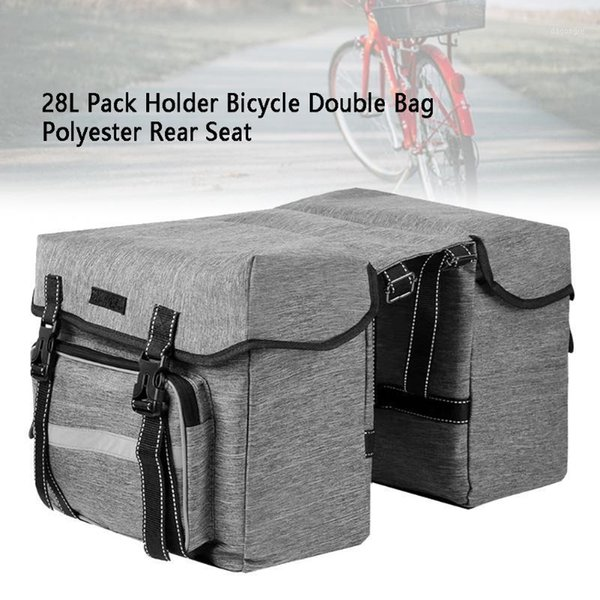 top popular 28L Saddle Carrier Accessories Bicycle Double Bag Holder Mountain Road Bike Universal Rear Seat Waterproof Pannier Pack Storage1 2021