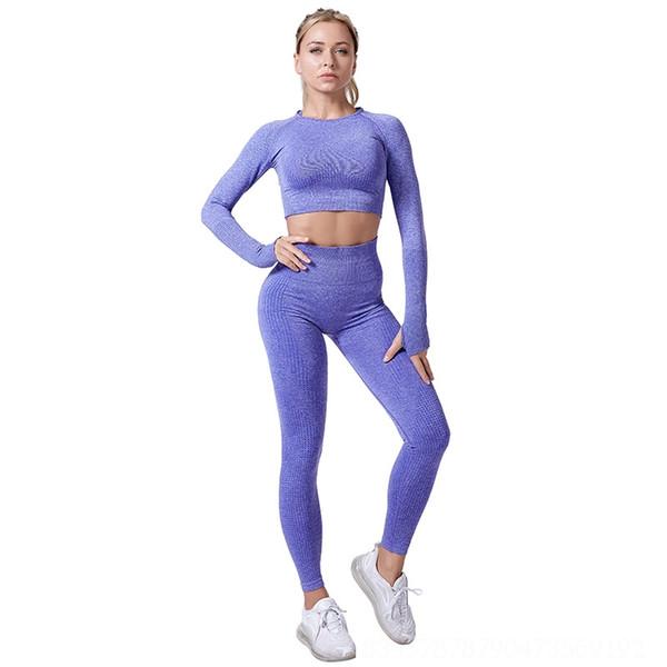 Фиолетовые брюки с длинными рукавами