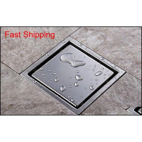 top popular Lead Free Tile Insert Square Floor Waste Grates Bathroom Shower Drain 110 X 110mm,304 Stainless Steel Bathroo jllyDo carshop2006 2021