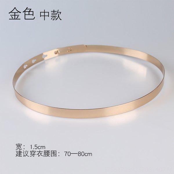 Anchura: 1,5 cm Oro Medio