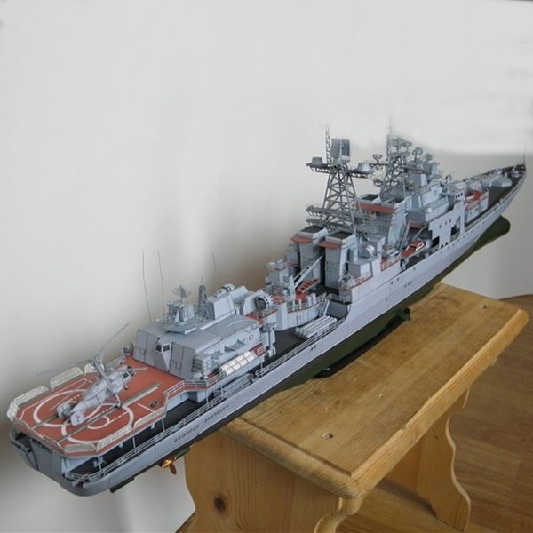 best selling DIY Paper Model 82 cm Harlem Russia Dreadnought missile destroyer Admiral Liefuqinke Pepercraft Ship Funs Gifts Y200428