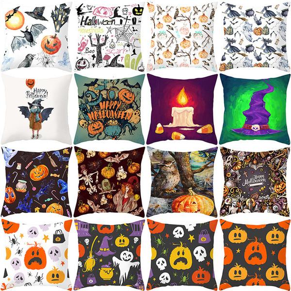 best selling Home Halloween Pumpkin Pillow Case New Bed Cushion Waist Pillow Case