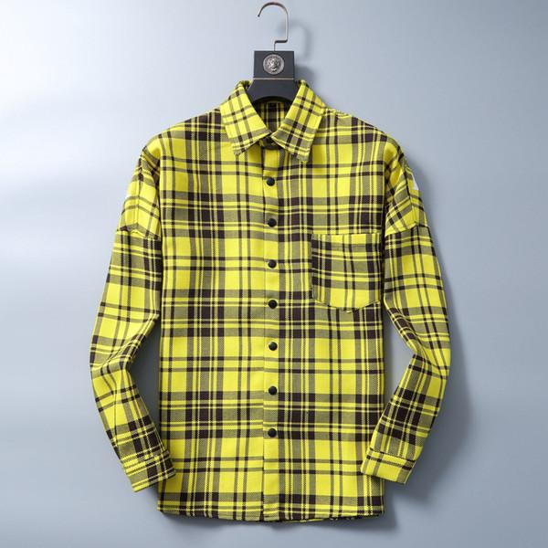 top popular Women's shirt 2020 New t Shirts Mens Twill Long Sleeve Thickened Shirt New Fashion Men's long Sleeve Shirt 2020