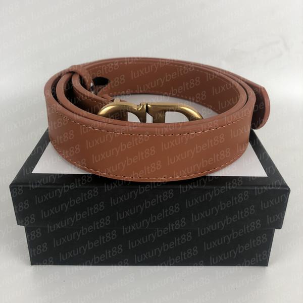 Bronze buckle + Brown