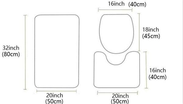 3pcs Mat Set