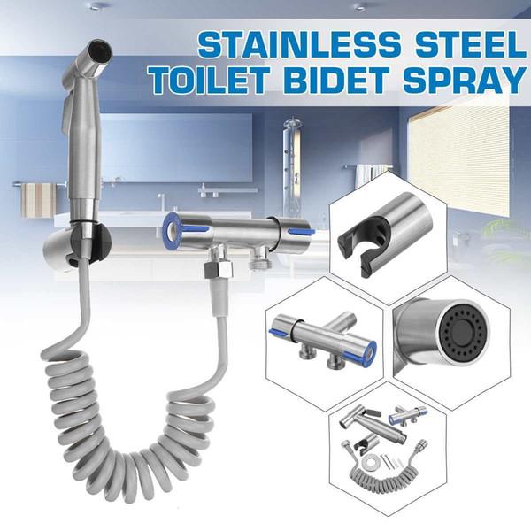 best selling Toilet Hand Held Bidet Spray Shower Head Douche Kit Shatta Copper Valve Bathroom Bidet Sprayer Jet Tap Holder Hose C0127