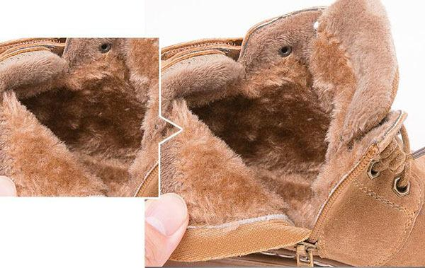 коричневый меховой подкладке