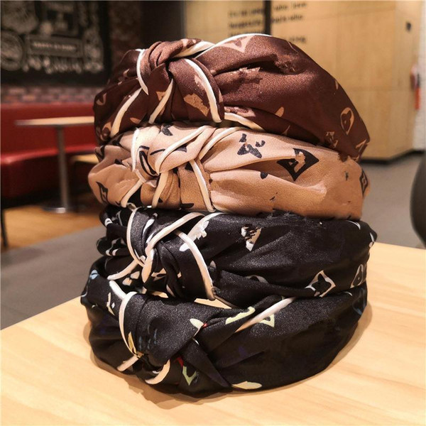 best selling Women Headband Hairband Knotted ribbons Hairpin Hair Accessories Vintage Fashion trend 4 Colors Head Wrap Girls