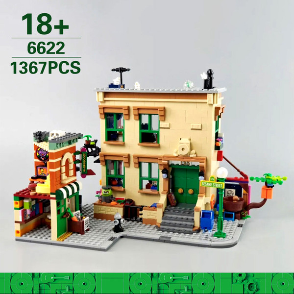 best selling 6622 1367pcs Creator Ideas Street 123 Sesame Street Building Blocks Bricks Toys Kids Gift Compatible 21324