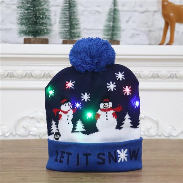 针织 帽 【深蓝 雪人 款】