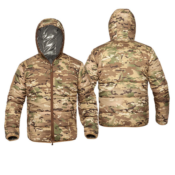 best selling Outdoor Sports Gear Jungle Hunting Woodland Shooting Coat Tactical Combat Clothing Cotton-padded Jacket Warm Wadded Jacket P05-221