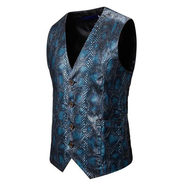 Blue Waistcoat Men