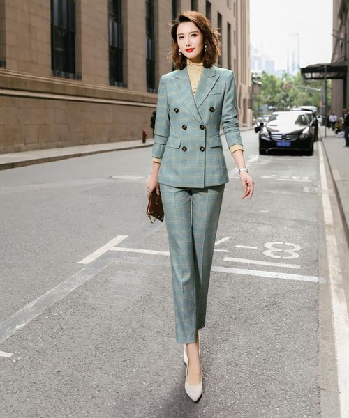 Green coat and pants