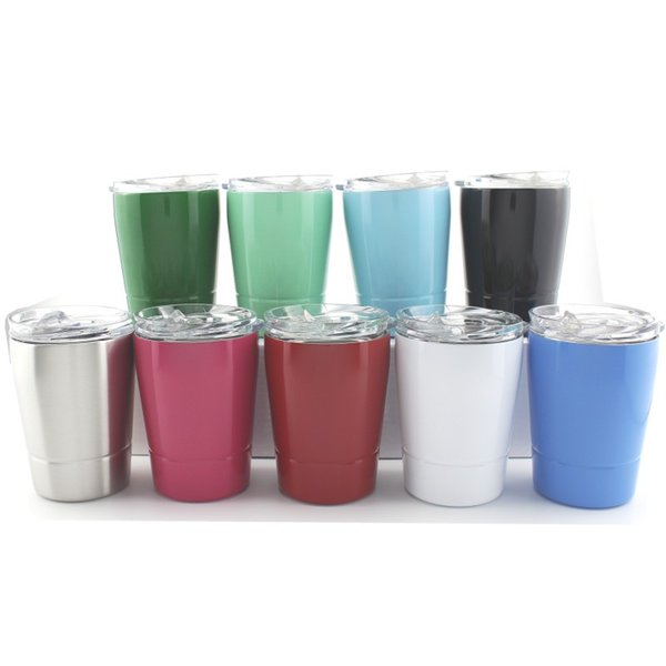 top popular 9oz Kids sippy Cup With Lids milk Wine Glass Stainless Steel tumbler Vacuum Insulated Double Wall Coffee Mugs For Children 2021
