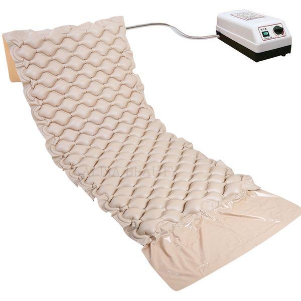 top popular Medical Hospital Sick Bed Alternating Pressure Air Mattress with Pump Prevent Bedsores and Decubitus Pneumatic Massage Cushion 2021