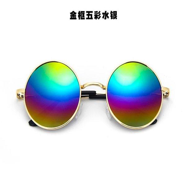 arco iris con oro