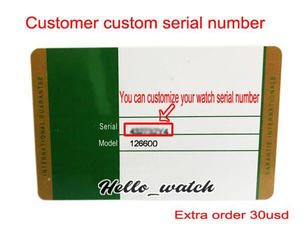 scheda di garanzia personalizzato