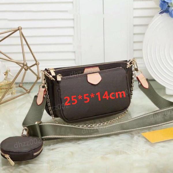 top popular Handbag Women handbags Multi pochette bag Chain Crossbody bag Fashion Small Shoulder Bag 3 pcs purse multi color straps wfdgf 2021