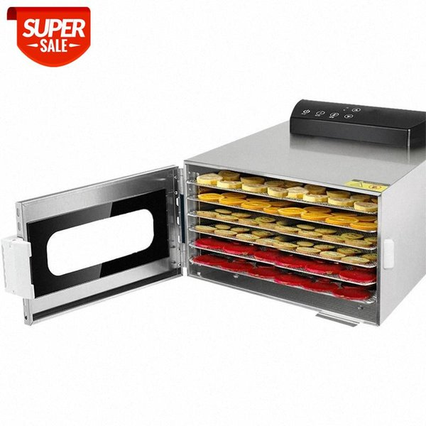 top popular Chcyus 6 Trays Food Dehydrator Snacks Dehydration Dryer Fruit Vegetable Herb Meat Drying Machine Stainless Steel 110V 220V EU US #ys6S 2021