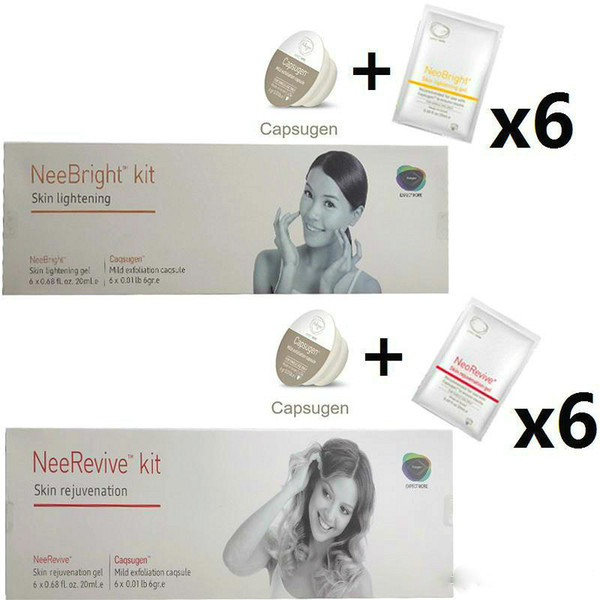 Massage Creams Exfoliation Consumable Neebright Neerevive Capsugen Whitening and Anti-Aging Kit Nee Revive