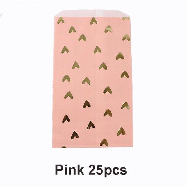 25pcs rosa