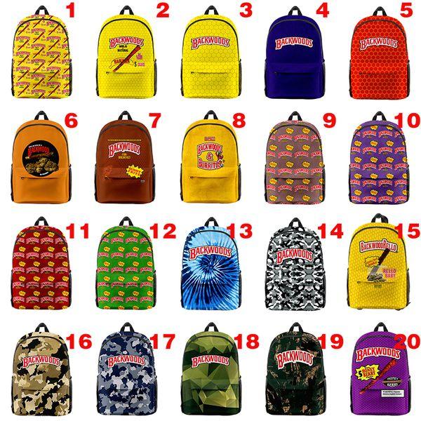 top popular Hot Sale Cigar Backwoods Backpack Durable soft handle Smell Proof Outdoor Shoulder Backpack Shoulder Bag Outdoor Backwoods 2021