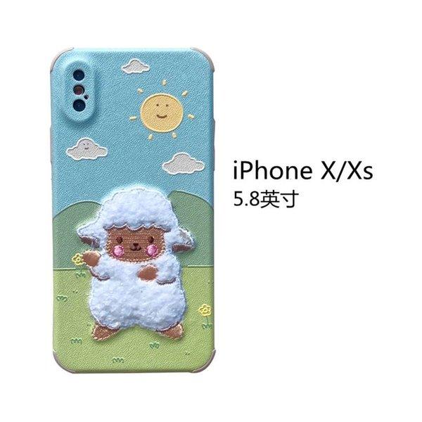 Iphone x / Xs Embroidery Prairie Sheep