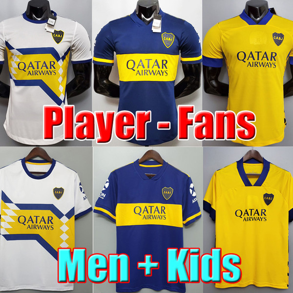 best selling Fans Player version 20 21 Boca Juniors soccer jersey MARADONA TEVEZ DE ROSSI 2020 2021 home away 3rd 4th thailand football shirt