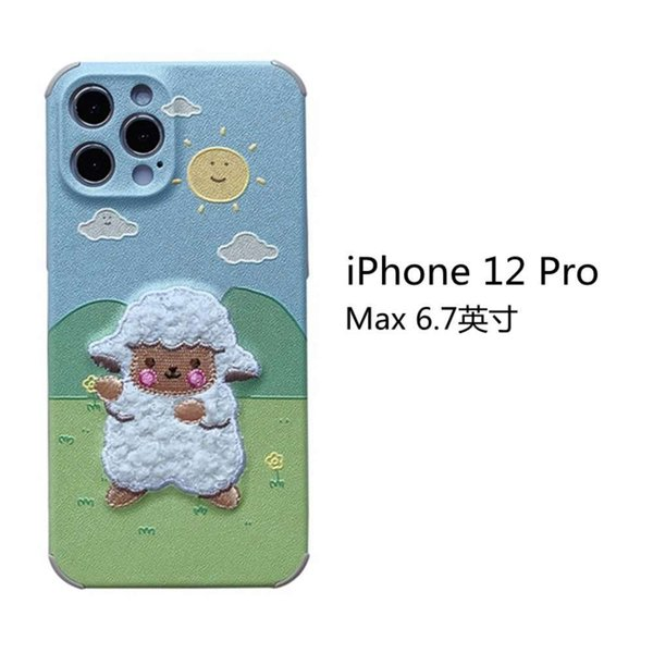 Iphone 12 Pro Max Embroidery Prairie Sheep