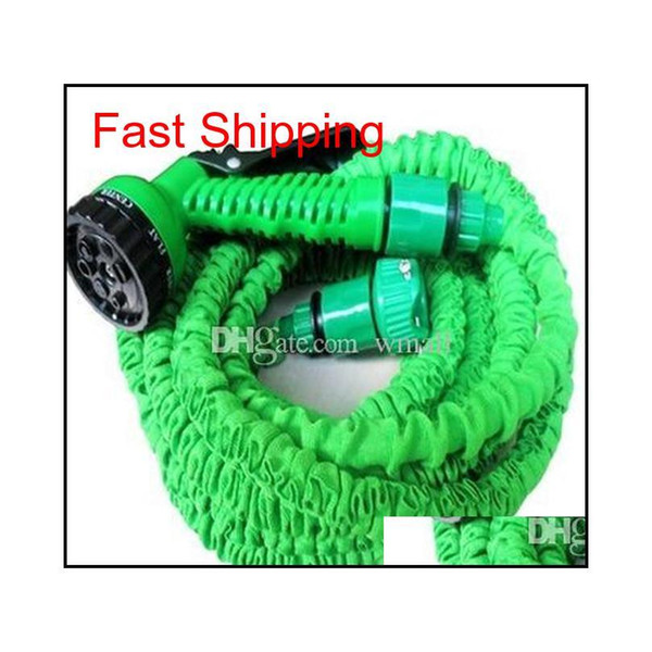 best selling Garden Hose 25ft 50ft 75ft 100ft Flexible X Garden Water Hose With Spray Gun Car Wash Pipe Retractable Watering Tele qylPFI homes2011