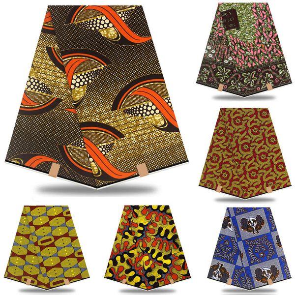 best selling Guaranteed veritable 100% cotton African wax prints african Ankara Wax real Nigeria wax for dress Women Dress RT874 T200529