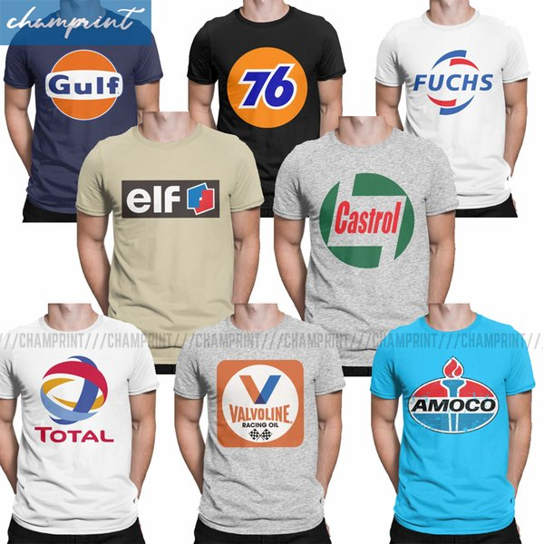 vintage oil retro gas petrol brand logo t-shirts men car motorsport t shirt 70's 80's birthday gift tee shirt sport hooded sweatsh