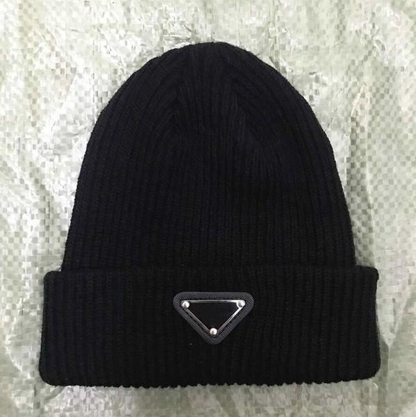 top popular Unisex Spring Winter Hats Men women Knitted Beanie Wool Hat Man Knit Bonnet top quality Beanies hip-hop Gorro Thicken Warm Cap 2021