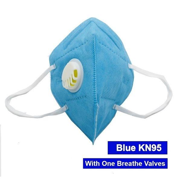 Blaue Maske mit 1 Ventil