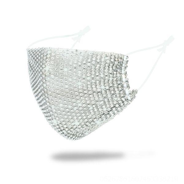 Серебряная маска - один размер # 66893