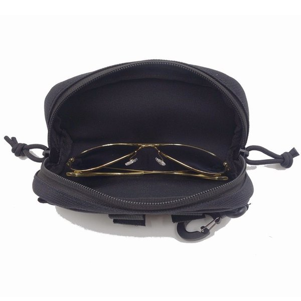 best selling Hunting Advanced Airsoft Tactical MOLLE Portable Sunglasses Case Belt Eyeglasses Bag Outdoor Glasses Accessories Pouch Eyewear Carr