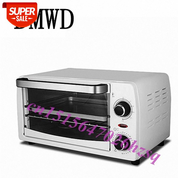 top popular DMWD 10L Electric Mini Oven Home Freestanding Pizza cake Toaster Oven Timer Kitchen Appliances #6e75 2021