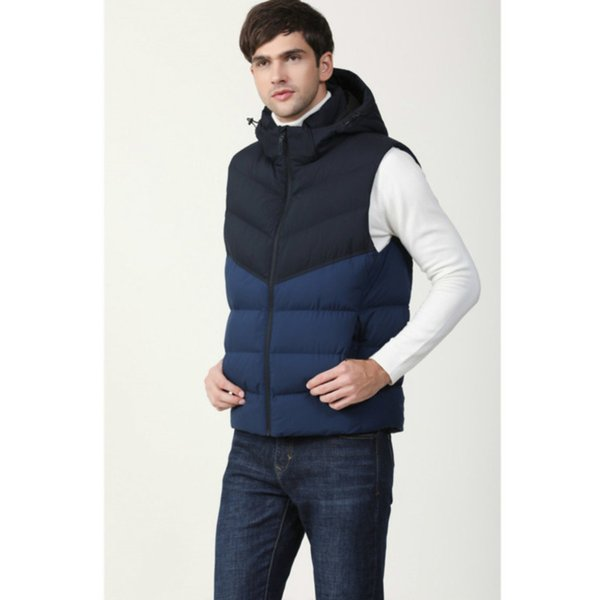 top popular Hot cotton wool collar down Have a hat Ma3 jia3 vests sleeveless jackets plus size quilted vests Men vests outerw best-selling 2020