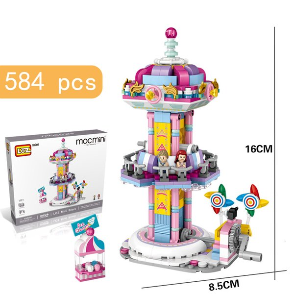 top popular 600 Small Particles of Playground Building Building-block Toys Compatible with inglys DIY Educating Children Christmas Gifts 2020