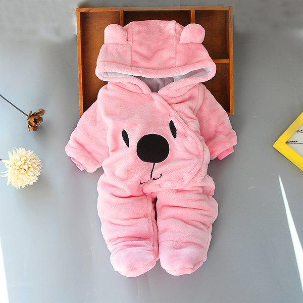 top popular Baby Coat Autumn Winter Newborn Jackets For Baby Romper Baby Girls Boys Warm Hooded Overalls Coat Kids Jumpsuit Infant Clothes Q1123 2020
