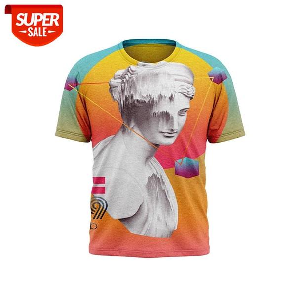 best selling 3DT shirt Printing Girl T-shirt Roman Sculpture Pattern Boy Clothing Kids 2021 Summer Tops Popular Men's T-shirts #233n