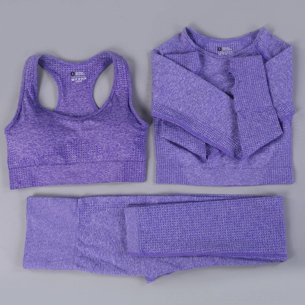 Брюки фиолетового бюстгальтера с длинными рукавами