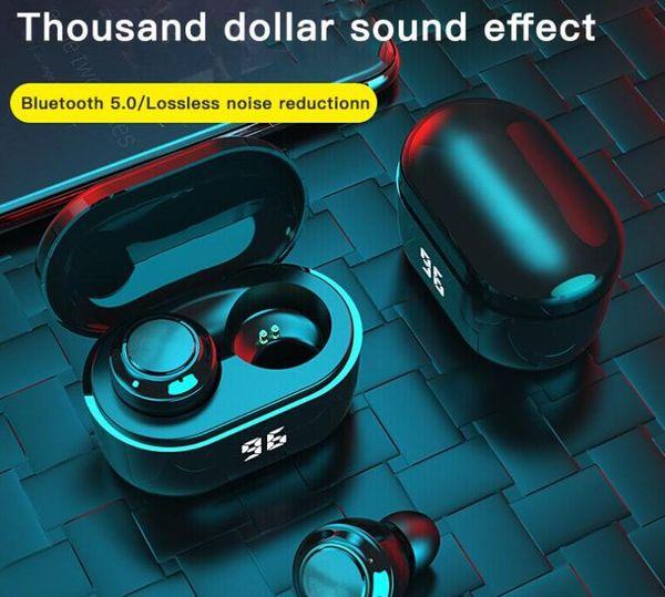 best selling A6 digital display tws bluetooth headset 5.0mini in-ear binaural wireless headset cross-border headset earphone earbuds hot