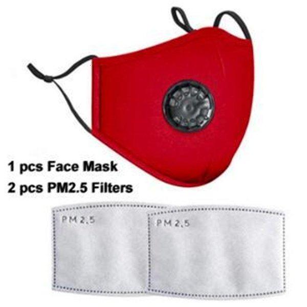 Красная маска для лица с фильтрами