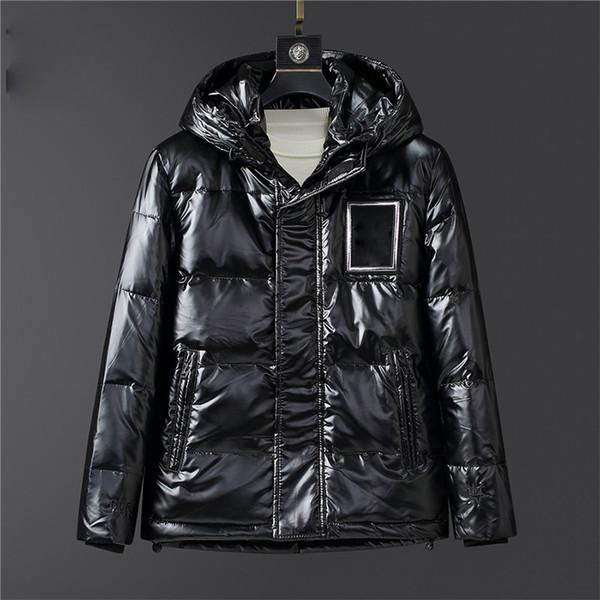 top popular Fashion Down Jacket Men Outdoor Warm Feather Winter Jacket down-filled Hooded Thick Coat Outwear Embroidery Letters black Jacket Parka 2021