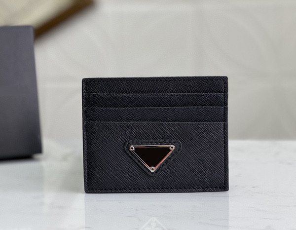 top popular Top quality Men Classic Casual Credit Card Holders Ultra Slim Wallet Packet Bag For Mans Women 2021