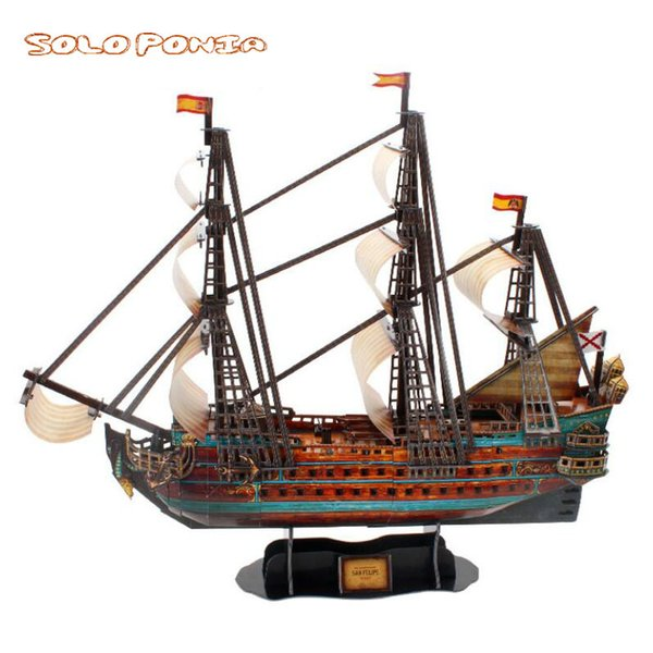 top popular 65cm DIY, sailboat, model boat, handmade, pickle model, birthday present, St. frappy 2021