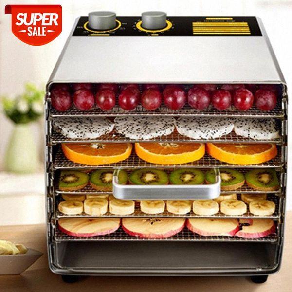 best selling Smart Stainless Steel Glass Intelligent 6 Layer Dehydrators Food Processor Baby Pet Vegetable Fruit Dryer Steamer Kitchen Baking #UK7V